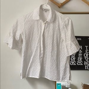Madewell Eyelet Button Down Size XS